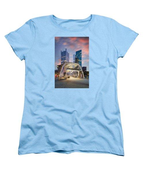 Gateway Station At Pittsburgh  Women's T-Shirt (Standard Cut) by Emmanuel Panagiotakis