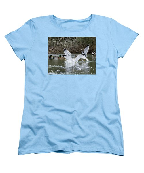 Women's T-Shirt (Standard Cut) featuring the photograph Gathering Of Egrets by George Randy Bass