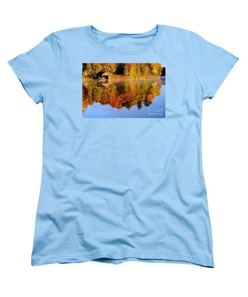 Gatineau Park Taylor Lake Women's T-Shirt (Standard Cut) by Rod Jellison