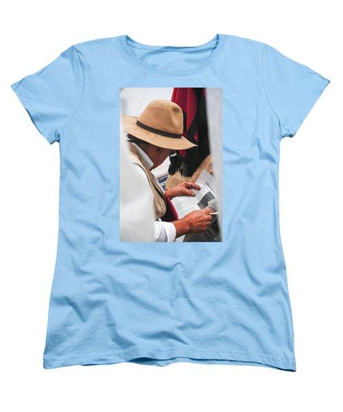 Gaucho Reading Women's T-Shirt (Standard Cut) by Silvia Bruno