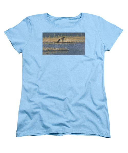 Geese Women's T-Shirt (Standard Cut) by Richard Faulkner
