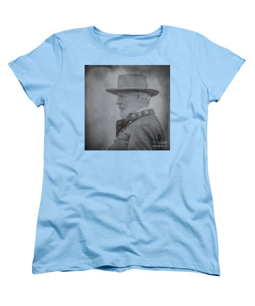 General Robert E Lee Portrait  Women's T-Shirt (Standard Cut) by Randy Steele