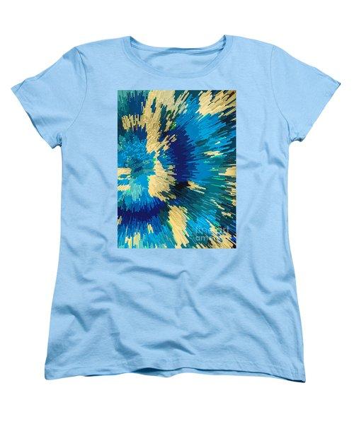 Genetically  Modified Dahlia Women's T-Shirt (Standard Cut) by Moustafa Al Hatter