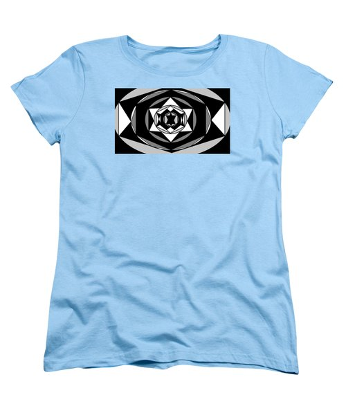 'geometric 1' Women's T-Shirt (Standard Cut) by Linda Velasquez