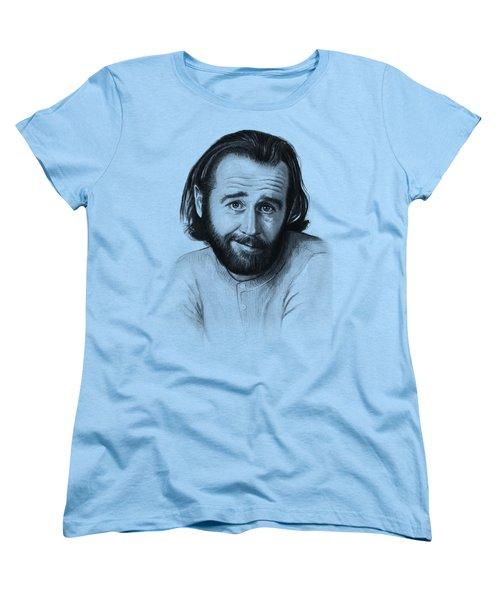 George Carlin Portrait Women's T-Shirt (Standard Cut)