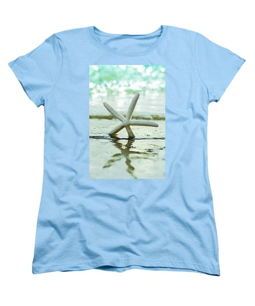 Women's T-Shirt (Standard Cut) featuring the photograph Get Your Feet Wet by Laura Fasulo