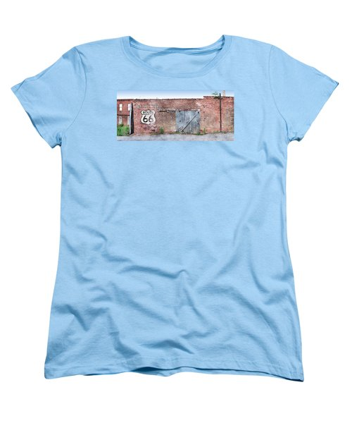 Women's T-Shirt (Standard Cut) featuring the digital art Get Your Kicks by Sandy MacGowan