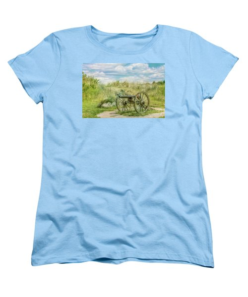 Gettysburg Battlefield Cannon Ver Two Women's T-Shirt (Standard Cut) by Randy Steele