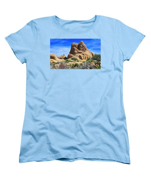 Ghost Rock - Joshua Tree National Park Women's T-Shirt (Standard Cut) by Glenn McCarthy Art and Photography