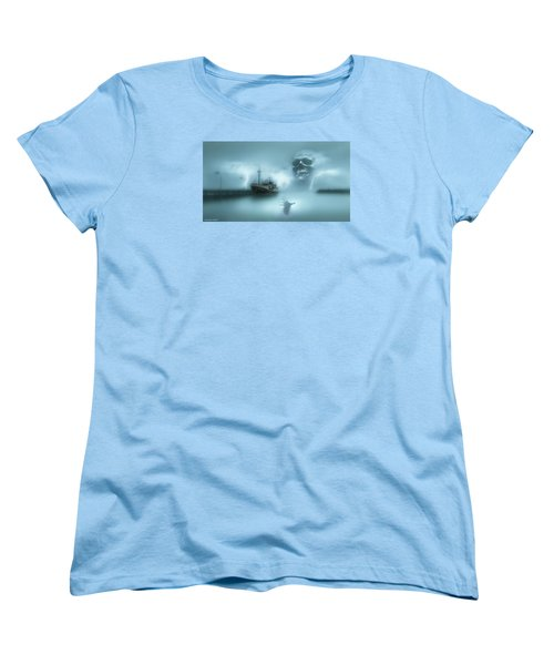 Ghost Ship 0002 Women's T-Shirt (Standard Cut) by Kevin Chippindall