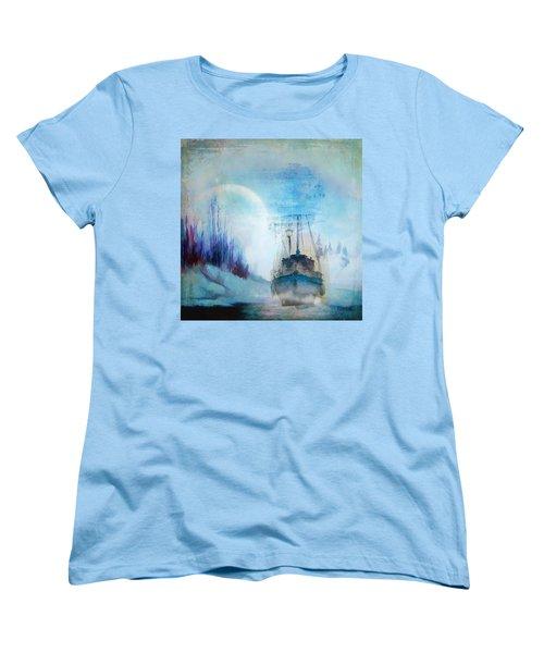 Ghost Ship Women's T-Shirt (Standard Cut) by Diana Boyd