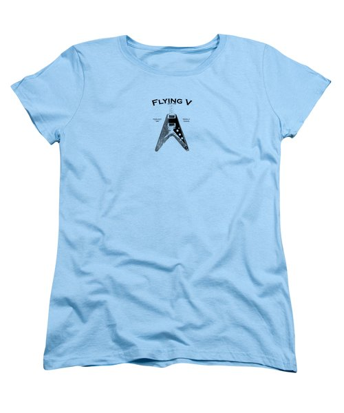 Gibson Flying V Women's T-Shirt (Standard Cut) by Mark Rogan