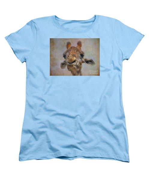 Women's T-Shirt (Standard Cut) featuring the photograph Giraffe by Savannah Gibbs
