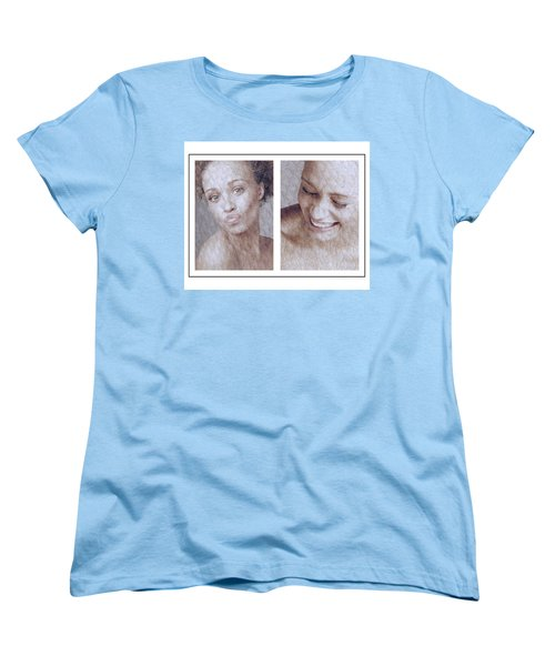 Girl Pouting And Laughing Women's T-Shirt (Standard Cut) by Michael Edwards