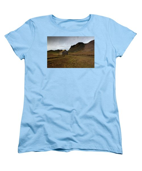 Give Me Shelter Women's T-Shirt (Standard Cut) by Allen Biedrzycki
