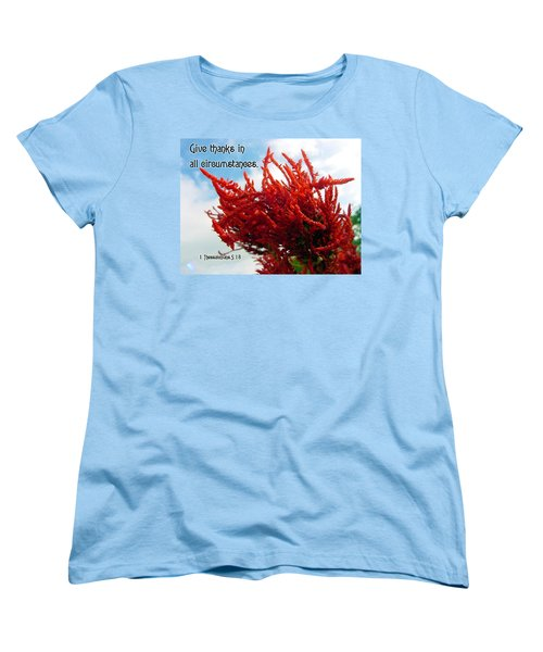 Give Thanks Women's T-Shirt (Standard Cut) by Judi Saunders
