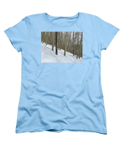 Gladed Run Women's T-Shirt (Standard Cut) by Christin Brodie
