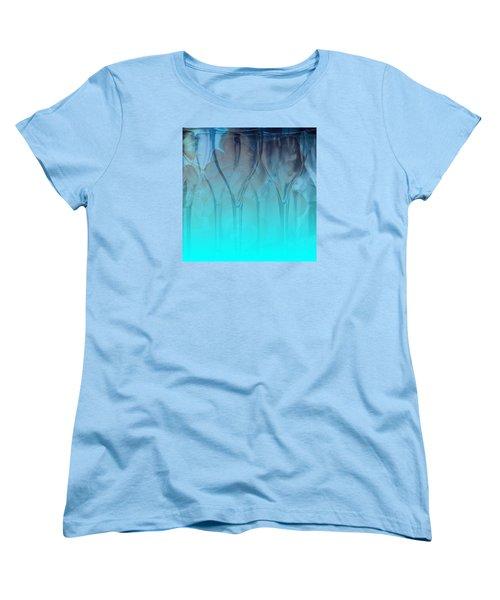 Women's T-Shirt (Standard Cut) featuring the digital art Glasses Floating by Allison Ashton