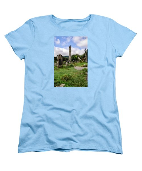 Glendalough Tower Ireland Women's T-Shirt (Standard Cut) by Martina Fagan