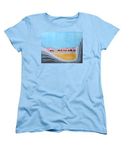 Global Warming Silk Melting Glaciers Valley Or Where Did All My Blue Glaciers Go  Women's T-Shirt (Standard Cut) by Rachel Hershkovitz
