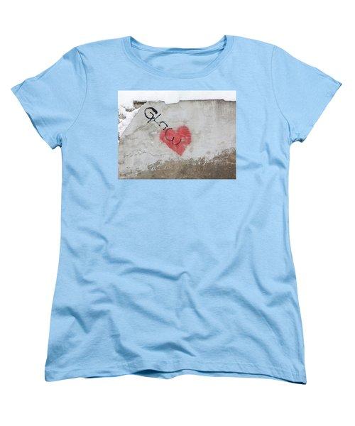 Women's T-Shirt (Standard Cut) featuring the photograph Glow Heart by Art Block Collections