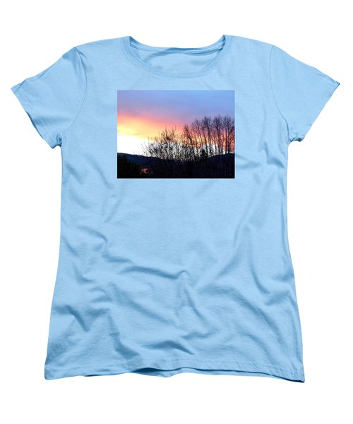 Women's T-Shirt (Standard Cut) featuring the photograph Glowing Kalamalka Lake by Will Borden