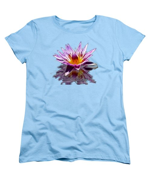 Glowing Lilly Flower Women's T-Shirt (Standard Cut) by Shane Bechler