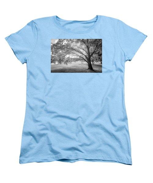 Glowing Tree Women's T-Shirt (Standard Cut) by Teemu Tretjakov