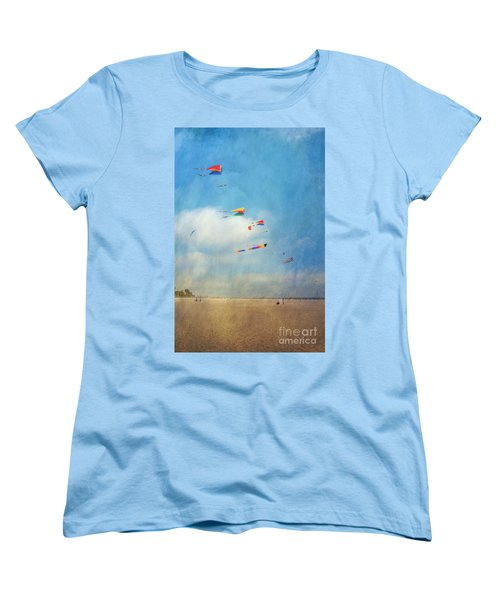 Women's T-Shirt (Standard Cut) featuring the photograph Go Fly A Kite by David Zanzinger