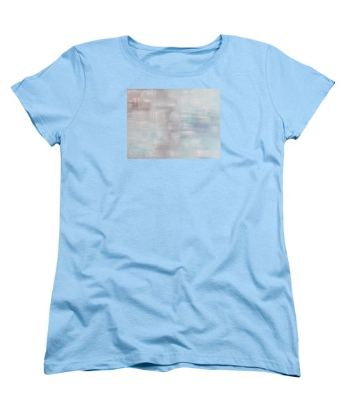 Women's T-Shirt (Standard Cut) featuring the painting Gobi Desert Gale And Oasis by Min Zou
