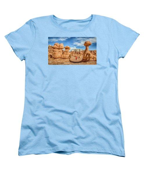 Goblin Valley State Park Women's T-Shirt (Standard Cut) by JR Photography