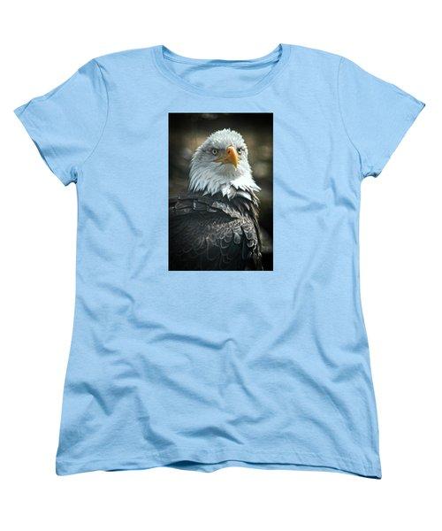 God Bless America Women's T-Shirt (Standard Cut) by Mike Martin