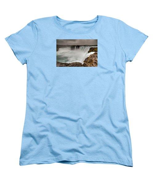 Godafoss Women's T-Shirt (Standard Cut) by Brad Grove