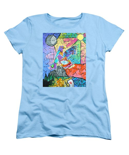 God's Eye, Like Eagle, Roams Earth, Night And Day Women's T-Shirt (Standard Cut) by Jeremy Aiyadurai