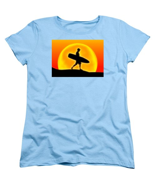 Goin' For A Surf Women's T-Shirt (Standard Cut) by Andreas Thust