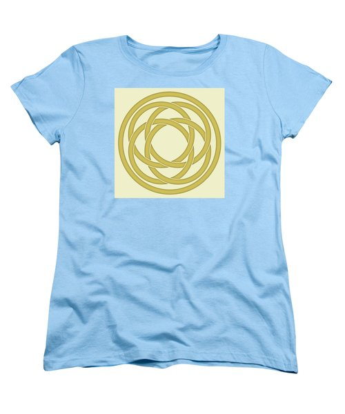 Women's T-Shirt (Standard Cut) featuring the photograph Gold Celtic Knot by Jane McIlroy