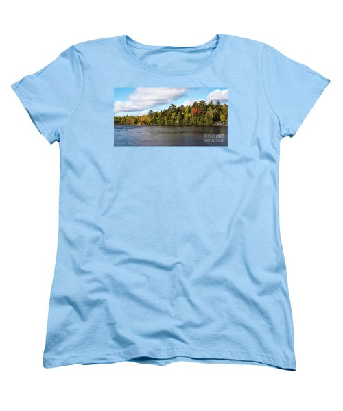 Golden Autum Day Women's T-Shirt (Standard Cut) by Sandy Molinaro