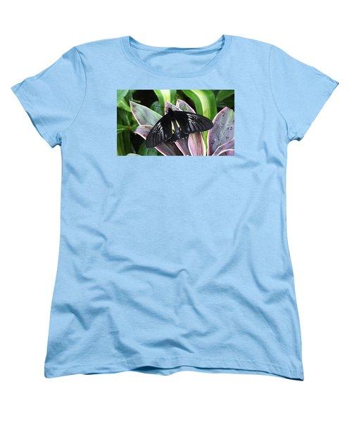 Golden Birdwing Women's T-Shirt (Standard Cut) by Judy Wanamaker