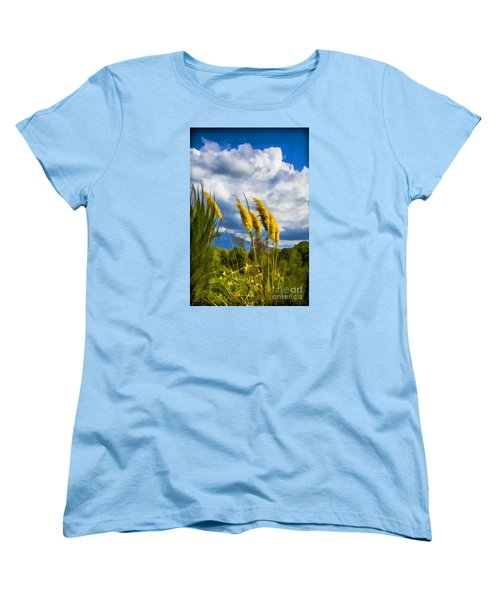 Women's T-Shirt (Standard Cut) featuring the photograph Golden Fluff by Rick Bragan