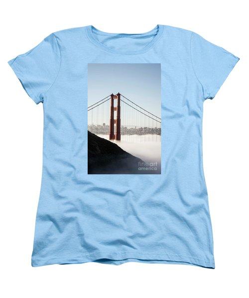 Women's T-Shirt (Standard Cut) featuring the photograph Golden Gate And Marin Highlands by David Bearden