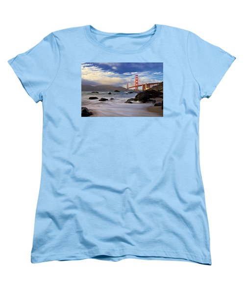 Golden Gate Bridge Women's T-Shirt (Standard Cut) by Evgeny Vasenev