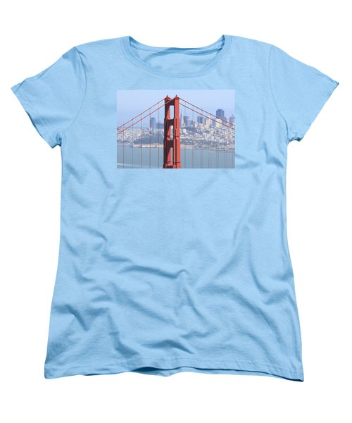 Golden Gate Bridge Women's T-Shirt (Standard Cut) by Lou Ford