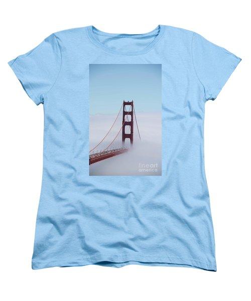 Women's T-Shirt (Standard Cut) featuring the photograph Golden Gate Fogged - 3 by David Bearden