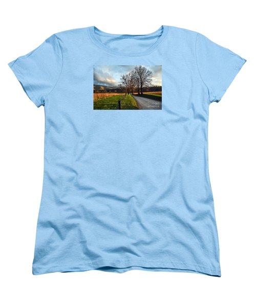 Golden Hour In The Cove Women's T-Shirt (Standard Cut) by Debbie Green