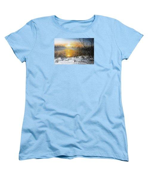 Golden Lake Sunrise  Women's T-Shirt (Standard Cut) by Vesna Martinjak