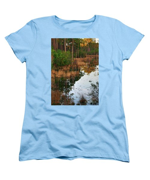 Golden Pond Women's T-Shirt (Standard Cut) by Lori Mellen-Pagliaro