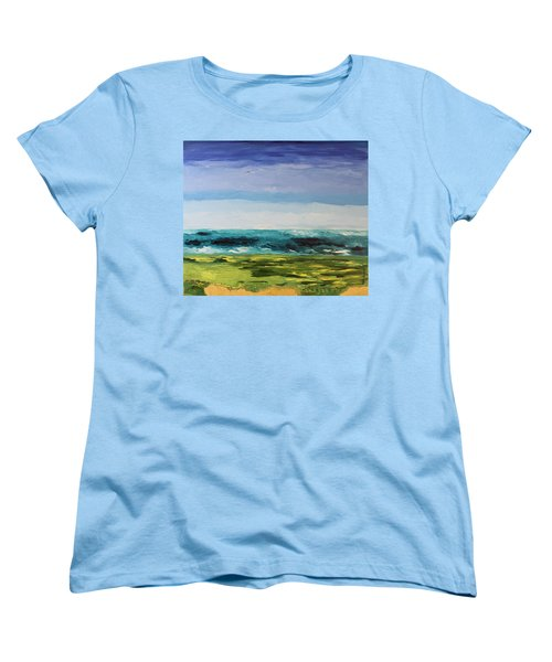 Women's T-Shirt (Standard Cut) featuring the painting Golf by Geeta Biswas