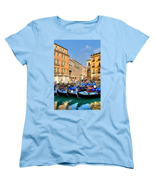 Gondolas In The Square Women's T-Shirt (Standard Cut) by Peter Tellone