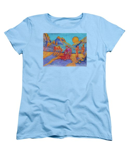 Good Samaritan Parable Painting Bertram Poole Women's T-Shirt (Standard Cut) by Thomas Bertram POOLE