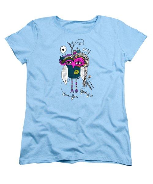 Goodnight Owl Women's T-Shirt (Standard Cut) by Tara Griffin